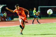 SISAKET THAILAND-AUGUST 13: Komkrit Camsokchuerk of Sisaket FC. Royalty Free Stock Photography