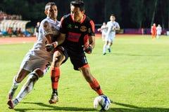 SISAKET THAILAND-AUGUST 9: Narong Wongthongkam av Sisaket FC (B arkivfoton