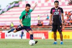 SISAKET THAILAND-AUGUST 3: Narubodin Weerawatnodom of BEC Tero Sasana FC. Stock Photography