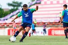 SISAKET THAILAND-AUGUST 3: Otman Djellilahine av BEC Tero Sasana FC Arkivbild