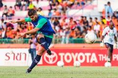 SISAKET THAILAND-AUGUST 3: Otman Djellilahine av BEC Tero Sasana FC Royaltyfri Foto