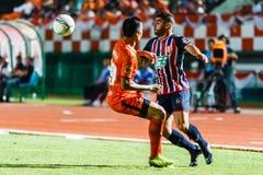 SISAKET THAILAND-AUGUST 3: Otman Djellilahine of BEC Tero Sasana FC. Stock Photos