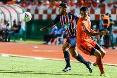 SISAKET THAILAND-AUGUST 3: Otman Djellilahine of BEC Tero Sasana FC. Royalty Free Stock Photo