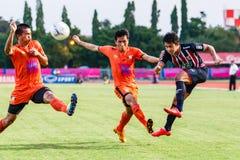 SISAKET THAILAND-AUGUST 3: Peerapat Notechaiya av BEC Tero Sasana FC Arkivfoto