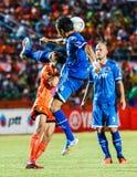 SISAKET THAILAND-AUGUST 13: Prathan Mansiri of PTT Rayong FC. Stock Photography