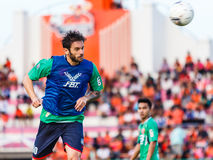 SISAKET THAILAND-AUGUST 3: Radomir Dalovic av BEC Tero Sasana FC Arkivbild