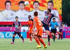 SISAKET THAILAND-AUGUST 3: Radomir Dalovic av BEC Tero Sasana FC Royaltyfri Bild