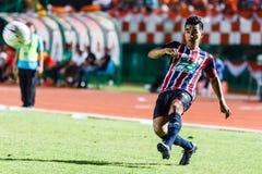 SISAKET THAILAND-AUGUST 3: Rangsan Viwatchaichok av BEC Tero Sasana FC Fotografering för Bildbyråer