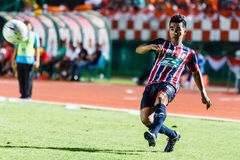 SISAKET THAILAND-AUGUST 3: Rangsan Viwatchaichok of BEC Tero Sasana FC. Stock Image