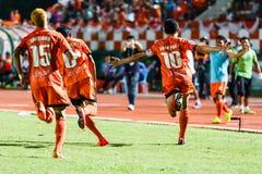 SISAKET THAILAND-AUGUST 3: Sarayuth Chaikamdee av Sisaket FC Arkivfoton