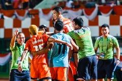 SISAKET THAILAND-AUGUST 3: Sarayuth Chaikamdee av Sisaket FC Fotografering för Bildbyråer
