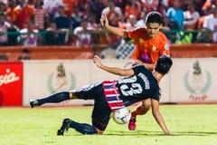 SISAKET THAILAND-AUGUST 3: Sarayuth Chaikamdee av Sisaket FC Royaltyfri Bild