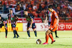 SISAKET THAILAND-AUGUST 3: Sarayuth Chaikamdee av Sisaket FC Royaltyfria Foton