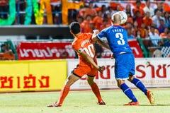 SISAKET THAILAND-AUGUST 13: Sarayuth Chaikamdee of Sisaket FC. Royalty Free Stock Photos