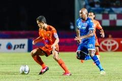 SISAKET THAILAND-AUGUST 13: Sarayuth Chaikamdee of Sisaket FC. Royalty Free Stock Images