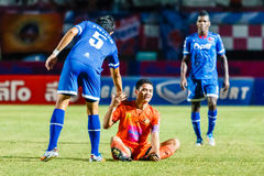 SISAKET THAILAND-AUGUST 13: Sarayuth Chaikamdee of Sisaket FC. Royalty Free Stock Photos