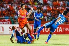 SISAKET THAILAND-AUGUST 13: Sarayuth Chaikamdee of Sisaket FC. Stock Image