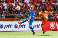 SISAKET THAILAND-AUGUST 13: Sarayuth Chaikamdee of Sisaket FC. Royalty Free Stock Photo