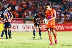 SISAKET THAILAND 3. AUGUST: Sarayuth Chaikamdee von Sisaket FC Lizenzfreie Stockfotos