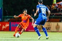 SISAKET THAILAND-AUGUST 13: Somsak Wongyai of Sisaket FC. Royalty Free Stock Images