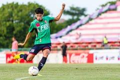SISAKET THAILAND-AUGUST 3: Tanaboon Kesarat of BEC Tero Sasana FC. Royalty Free Stock Photos