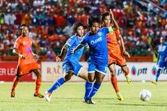 SISAKET THAILAND-AUGUST 13: Yuttana Chaikaew of PTT Rayong FC. Royalty Free Stock Photography