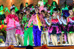 SISAKET, THAILAND - DECEMBER 27 : Unidentified dancers performs Royalty Free Stock Images
