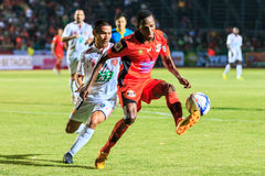 SISAKET THAILAND-FEBRUARY 18: Adefolarin Durosinmi (orange) of S Stock Images