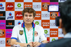 SISAKET THAILAND-FEBRUARY 18: Chalermwoot Sa-Ngapol head coach o Royalty Free Stock Image
