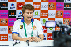 SISAKET THAILAND-FEBRUARY 18: Chalermwoot Sa-Ngapol head coach o Royalty Free Stock Photo