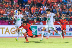SISAKET THAILAND-FEBRUARY 18: Tatree Seeha of Sisaket FC. (orang Stock Photos