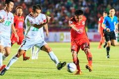 SISAKET THAILAND-FEBRUARY 18: Tatree Seeha of Sisaket FC. shooti Stock Images