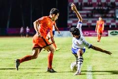 SISAKET THAILAND 23. JULI: Gorka Unda von Sisaket FC (Orange) Lizenzfreie Stockbilder