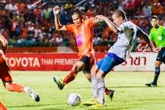 SISAKET THAILAND 23. JULI: Komkrit Camsokchuerk von Sisaket FC Lizenzfreies Stockbild