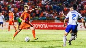 SISAKET THAILAND 23. JULI: Nuttawut Khamrin von Sisaket FC Lizenzfreie Stockbilder