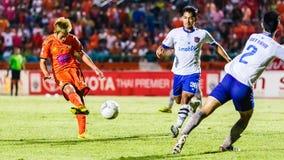 SISAKET THAILAND 23. JULI: Nuttawut Khamrin von Sisaket FC Stockfotos