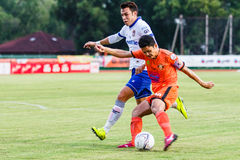 SISAKET THAILAND 23. JULI: Sarayuth Chaikamdee von Sisaket FC Lizenzfreie Stockfotografie