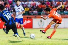 SISAKET THAILAND 23. JULI: Sarayuth Chaikamdee von Sisaket FC Stockbild
