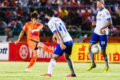 SISAKET THAILAND 23. JULI: Siwapong Jareansin von Sisaket FC Stockfotografie