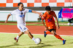SISAKET THAILAND-JULY 13: Alongkorn Pratoomwong of Sisaket FC. Royalty Free Stock Photography