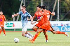 SISAKET THAILAND-JULY 6: Nikola Nikezic of Chainat Hornbill FC. Stock Photos