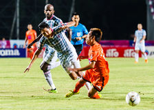 SISAKET THAILAND-JULY 6: Nuttawut Khamrin of Sisaket FC. Royalty Free Stock Photography