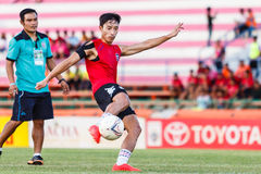 SISAKET THAILAND-JULY 6: Park Jung-Soo of Chainat Hornbill FC. Royalty Free Stock Image
