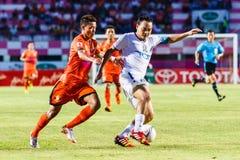 SISAKET THAILAND-JULY 13: Patiparn Phetphun of TOT S.C. (white) Stock Photography
