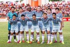 SISAKET THAILAND-JULY 6: Players of Chainat Hornbill FC. Stock Photography