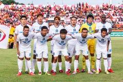 SISAKET THAILAND-JULY 13: Players of TOT S.C. Stock Image