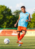 SISAKET THAILAND-JULY 6: Santirat Viang-i av Sisaket FC Arkivfoton
