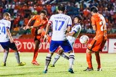 SISAKET THAILAND-JULY 23: Santirat Viang-in of Sisaket FC. Royalty Free Stock Photography