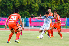 SISAKET THAILAND-JULY 6: Theerachai Ngamcharoen of Chainat FC. Royalty Free Stock Photo