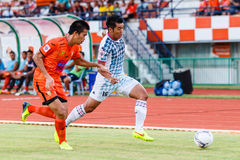 SISAKET THAILAND-JULY 6: Theerachai Ngamcharoen of Chainat FC. Stock Image
